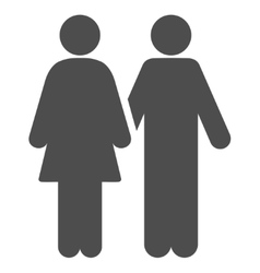 Adult Pair Flat Icon vector