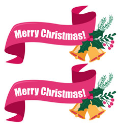 Banner xmas bell image vector
