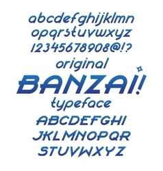 Banzai typeface vector image
