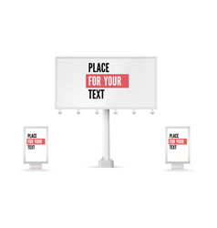 Billboard and lightbox ad panel placeholder for vector