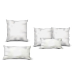Blank White Pillows Set vector image