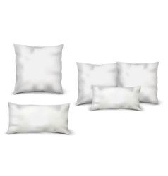 Blank White Pillows Set vector