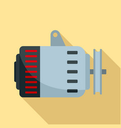 car alternator icon flat style vector image