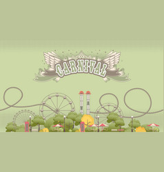 carnival amusement and recreation park vector image