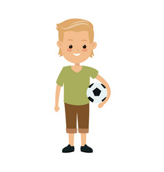 Cartoon boy kid son family image vector