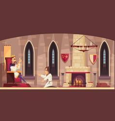 castle cartoon scene vector image