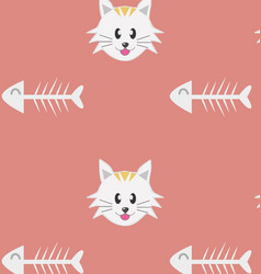 cat pattern - seamless texture made with th vector image