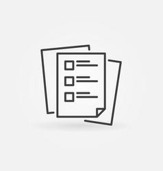 Checklist or tasklist blue linear icon vector