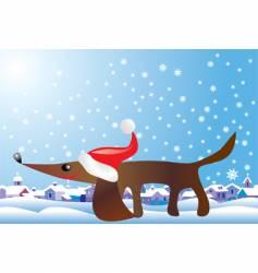 christmas hound vector image