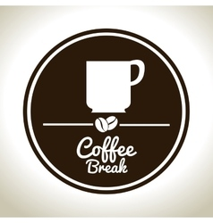 coffee break cup white graphic vector image