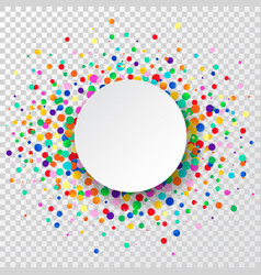 confetti circle background party background vector image