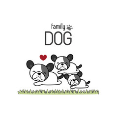cute dog family father mother and newborn baby vector image