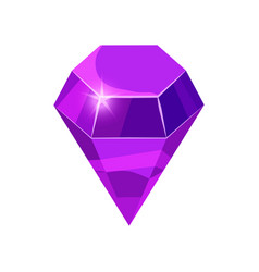 Diamond sparkling shining purple color isolated vector