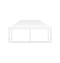 Empty rectangular outdoor canopy tent mockup vector