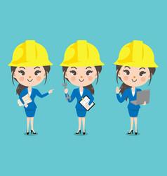 Engineer girl vector