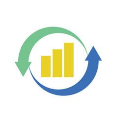 Financial chart looping vector