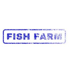 Fish farm rubber stamp vector