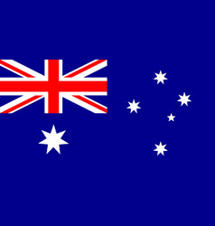 flag of australia in national colors vector image