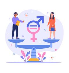 gender equality concept vector image