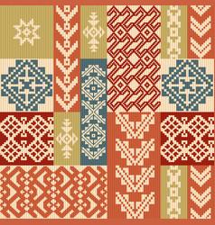 geometric patchwork pattern vector image
