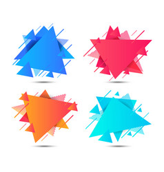 Geometric triangle colorful abstract shapes vector