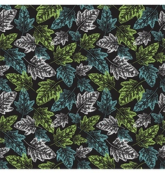 Grunge leaves pattern vector image