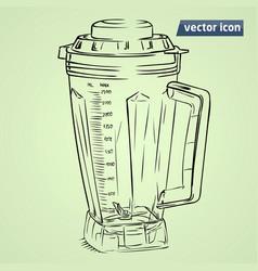 hand drawn mixer vector image