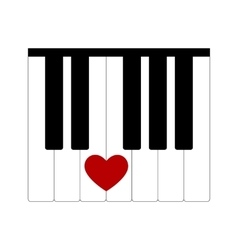 Heart love music vector