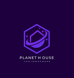 house planet template vector image