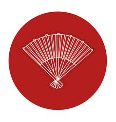 Japanese fan isolated icon vector
