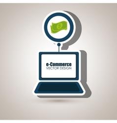 Laptop shopping online buy vector