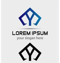 Letter y logo icon design template vector