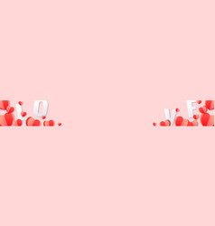 love text for valentines day holiday design vector image