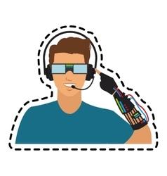 man cartoon icon vector image