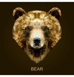 Modern brown bear in polygonal style vector