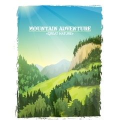 Mountains Landscape Background Poster vector image