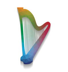 musical instrument harp sign colorful vector image