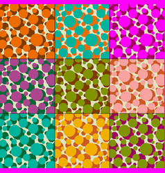 overlapping polka dot patterns vector image