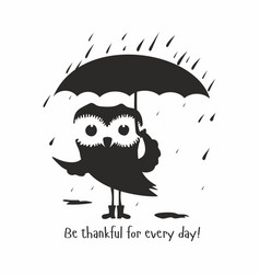 Owl be thankful for every day vector