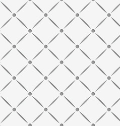 Perforated square grid with nods vector