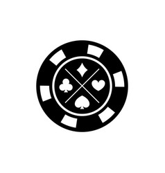 Poker chip for casino games casino chips for vector