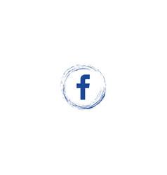 Popular social media logo vector