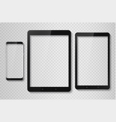 Popular top model of modern frameless smartphone vector
