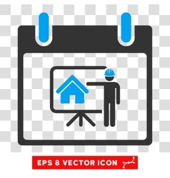 Realty developer calendar day eps icon vector