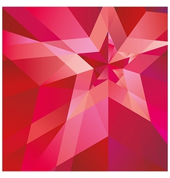 Red star with verge on abstract background vector