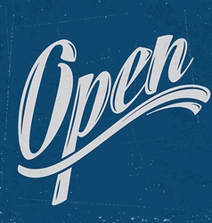 retro open sign vector image