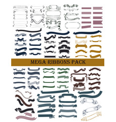 Ribbons pack for design vector