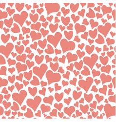 Seamless doodle hearts pattern background vector