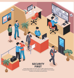 Security in office background vector