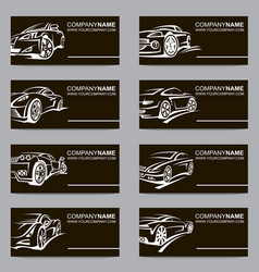 Set car business cards vector